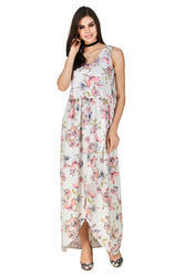 Casual Wear Printed Floral Print Designer Maxi Dress