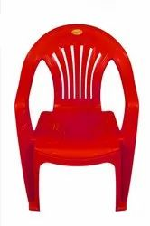 Red Visitor Swift International Plastic Mid Back Chair Big