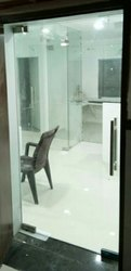 Plain Frameless Hinged Glass Door, For Office, Thickness: 15 Mm (glass)