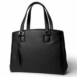 Black Rufous Ladies Leather Bag