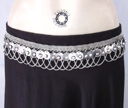 Gypsy Boho Bellydance Festival Maxi Dress Belt