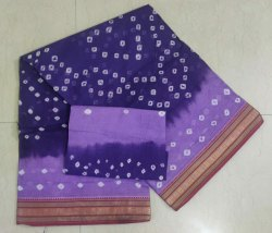Cotton Bandhani Saree