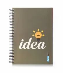 5 Subject Single Ruled Idea Paper Soft Cover Wiro Notebook - B5 Size