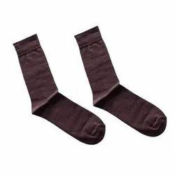 Sangitha Textile Cotton Dark Brown Children Socks, Size: Small, Age: 2-3yr