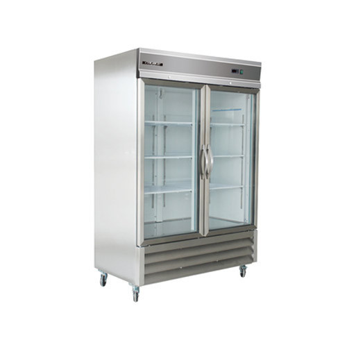 Stainless Steel Double Glass Door Refrigerator Electricity Rs