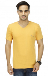 Mustard Yellow V Neck T Shirt