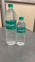 Transparent PET ZIPAQUA PACKAGED DRINKING WATER 500ML, Packaging Type: Bottles