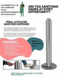 NJ Silver Touchless Hand Sanitizer Dispenser Station 304 Stainless Steel for Office