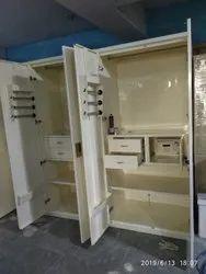 SAGAR White Godrej Steel Almirah, For Home