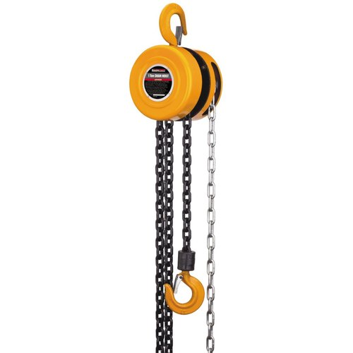 Iron Manual Chain Pulley Block, for Lifting Platform, Capacity: 0.5 to 2 Ton