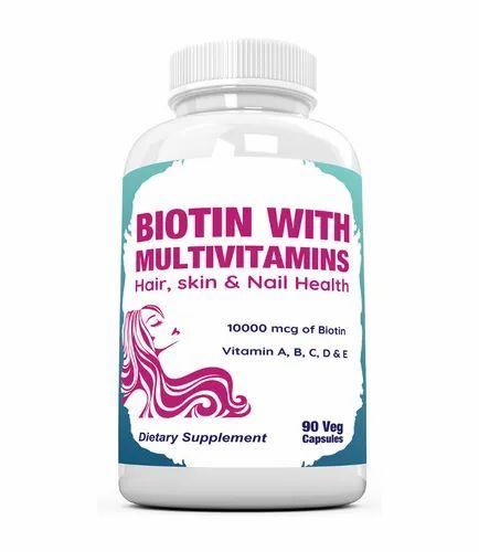 Biotin with Multivitamins 90 Veg Capsules, 90 Capsules, RAMINI BIONUTRITION