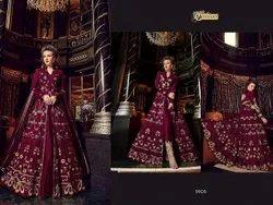 Thankar Net Designer Heavy Wedding Season Anarkali Suit, Dry clean