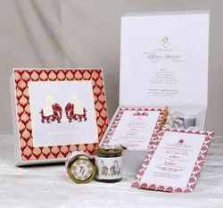 Boxed Style Marriage Invitation Card