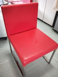 Red PVC Tuition Chair
