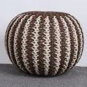 Decorative Round Outdoor Pouf Home Decor Living Room Stool