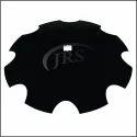 碳。硼黑圆盘刀片16英寸,用于收割机,圆形