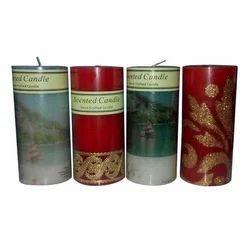 Scented Designer Pillar Candle
