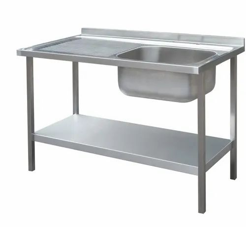 Stainless Steel Laxmi Single Bowl Kitchen Sink, For Home,Hotels Etc