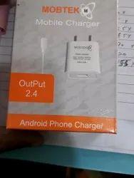1mtr White Mobtek 2 ampere charger, For Charging