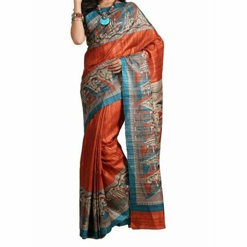 7adb57215363c TG Print Silk Saree