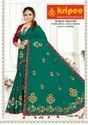 Cotton Lace With Embroidery Cotton Dying Sarees