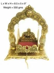 Gold Plated Metal Jhulla For Gods