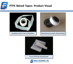 POLY FLUORO White PTFE Skived Tapes