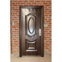 Wood Finish Single Steel Door