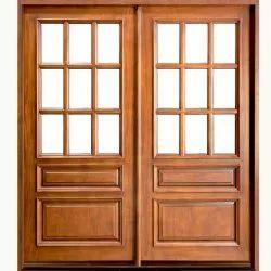 Standard Brown Designer Wooden Window