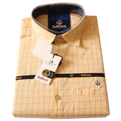 Mens Cotton Slim Fit Checked Shirt, Size: XL