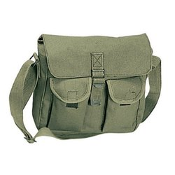 Green Cotton Canvas Sling Bags, For Casual Wear, Size/Dimension: 11