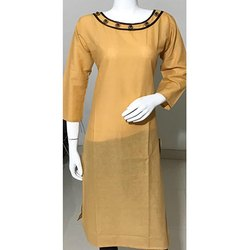 Cotton Plain Ladies Kurti