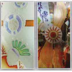 Coloured Etching Glass