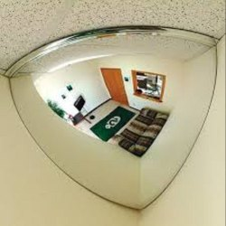 Glass Quater Safety Dome Mirror