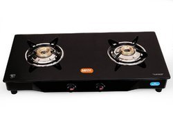 Mac Gas Saving Glass Top 2 Burners Gas Stove-Manual