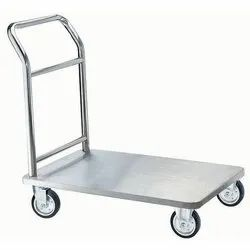 Stainless Steel SS Platform Trolley, Load Capacity: 200-250 Kg, Model Name/Number: Sasp 58