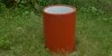 Red Plain Round Garden Pot