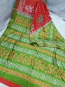 Acid Painted Murshidabad Silk Saree