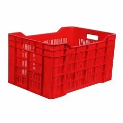 Rectangular Primeplast Colourful HDPE Crate, Capacity: 20-25kgs