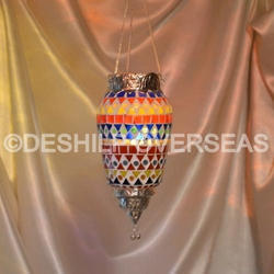 Glass Deshilp Overseas Mosaic T-Light Hanging