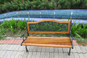 Garden Bench - C.I & Wood- 122 - Traditional
