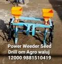 Mild Steel Power Weeder Seed Drill, For Agriculture, Size: 2 Fit