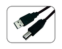 Black Stackfine Usb Printer Cable