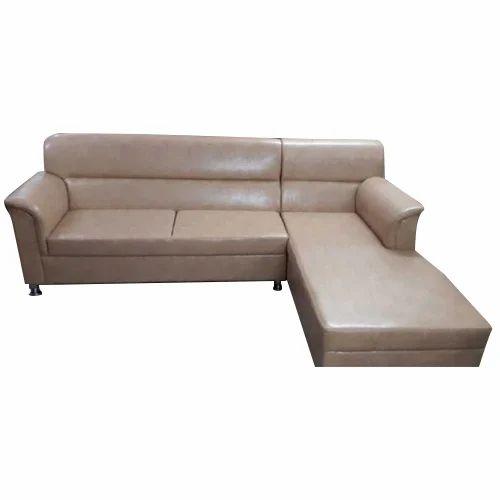 Plain 4 Seater Leather Sofa Set, Rs 14000 /set, Like N Look | ID ...