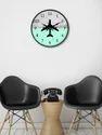 999Store Custom Printed Blue Grey Aeroplane Wall Clock