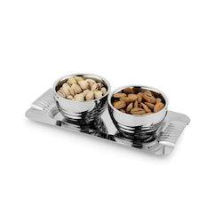 Stainless Steel Dry Fruit Platter
