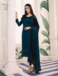Embroidered Party Wear LT Nitya Georgette Suits With Swaroski