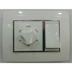 Polycarbonate White Hi-Fi Fan Regulator Switch, 5 Step, for Residential,Commercial