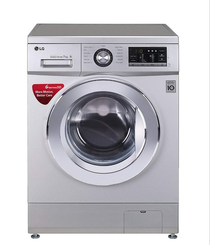 LG 7 kg Inverter Fully-Automatic Front Loading Washing Machine (FH2G6HDNL42, Luxury Silver, Inbuilt