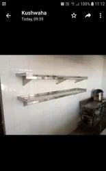 Steel aditya wall mounted shelf
